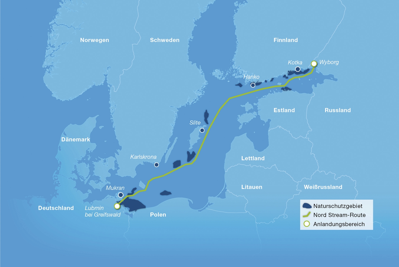 Nord Stream 2 Karte.Nature Reserves Along The Nord Stream Route Bilder Nord Stream Ag