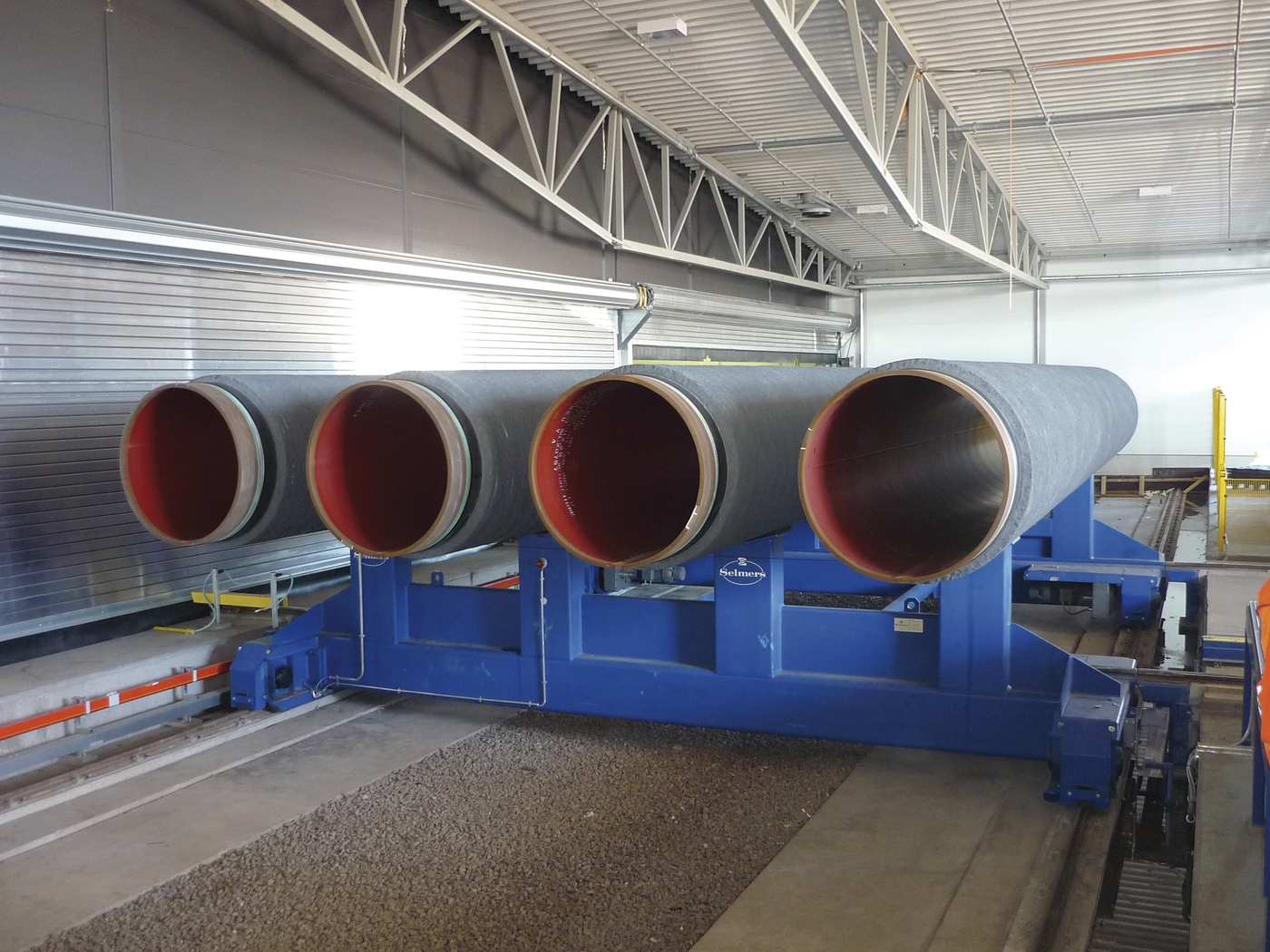 Concrete Pipe Plant : Quot concrete coated pipe joints leaving eupec weight