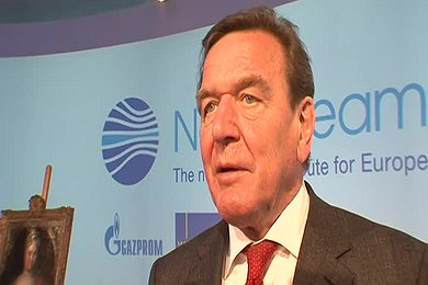 Interview: Gerhard Schröder at Ceremony in Russia to Mark the Start to Construction of the Nord Stream Pipeline