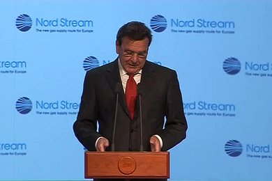 Speech from Gerhard Schröder at Ceremony in Russia to Mark the Start to Construction of the Nord Stream Pipeline