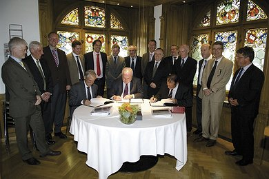 Signing the contract between Nord Stream AG and Saipem S.p.A., Zug (Switzerland), 24 June 2008