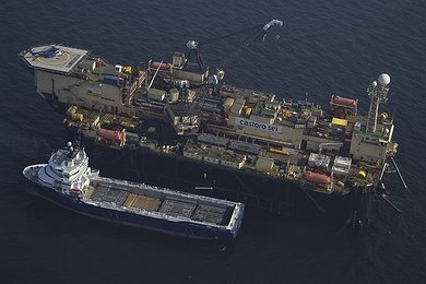 Castoro Sei offshore pipe laying in the Swedish EEZ