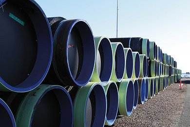 Concrete Coated Pipes at Kotka Marshalling Yard