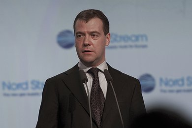 Dmitry Medvedev in Portovaya Bay