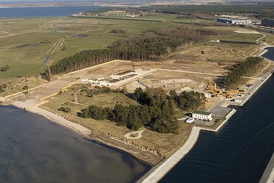 Landfall at the Lubminer Heide energy centre