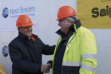 Matthias Warnig, Managing Director Nord Stream and Pietro F. Tali, Deputy Chairman and CEO Saipem