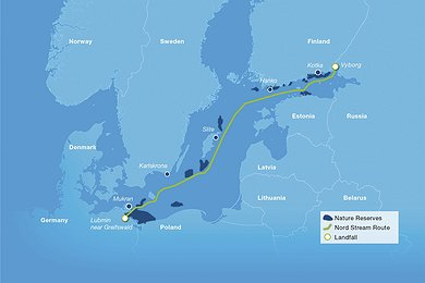 Nature Reserves along the Nord Stream route