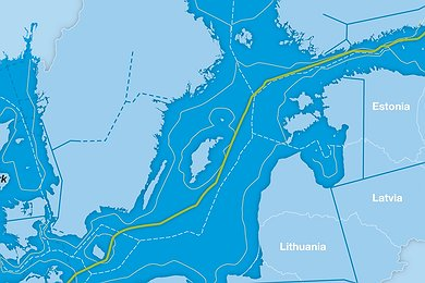 Nord Stream Pipeline in a Transboundary Context (without legend)