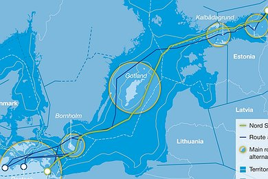 Nord Stream Route Optimization (with legend)