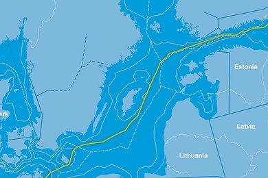 Nord Stream Route (without legend)