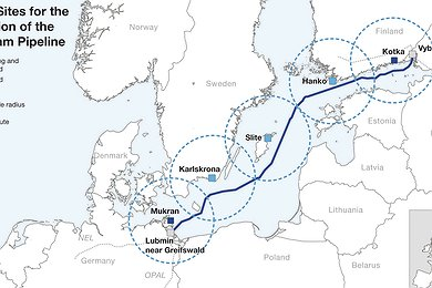 Nord Stream Logistics Sites (without legend)
