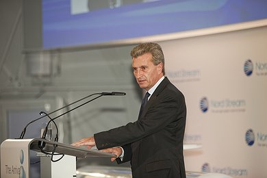 European Union Energy Commissioner Guenther Oettinger