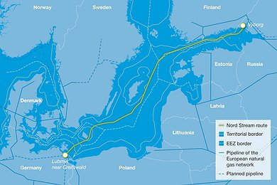 Nord Stream Route (with legend)